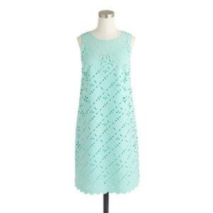 J. Crew Laser Cut Floral Shift Dress